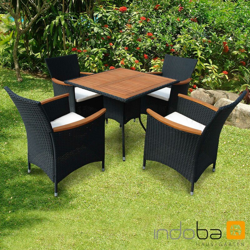 gartenm bel set 5 teilig valencia polyrattan serie. Black Bedroom Furniture Sets. Home Design Ideas